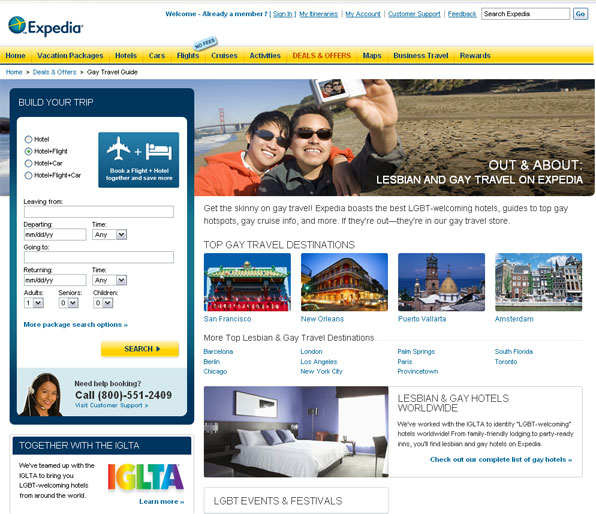 Expedia's LGBT Store