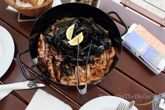 Seafood platter at Lokanda Peskarija