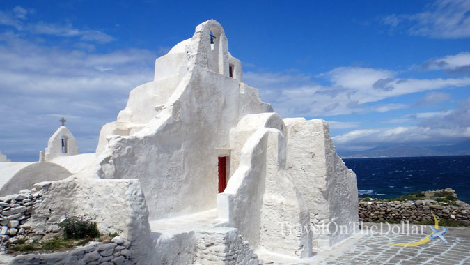 Panagia Paraportiani, a whitewashed church which building dates back to 1425