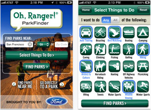 Oh Ranger! Parkfinder