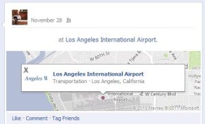 Airport Check-in on Facebook