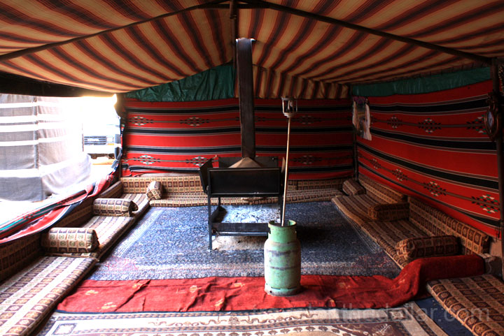 Main seating area at the Bedouin Camp