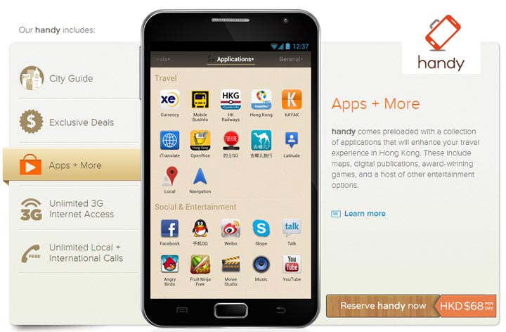 Rent a smartphone with Handy