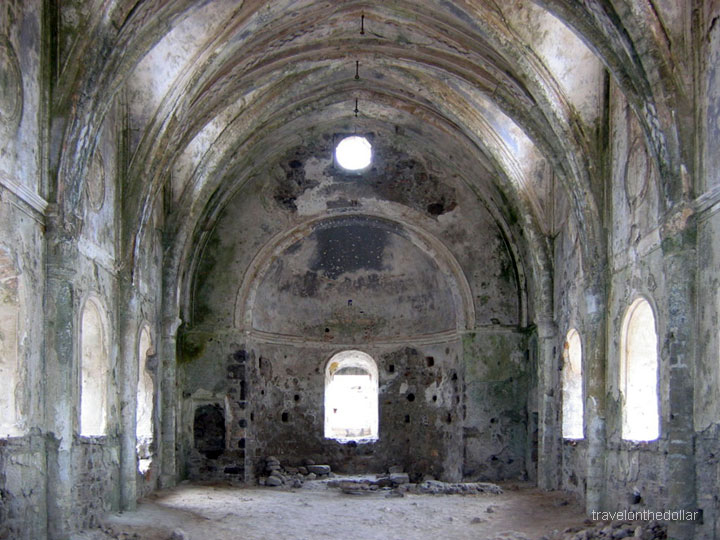 Abandoned  church in Kayaköy