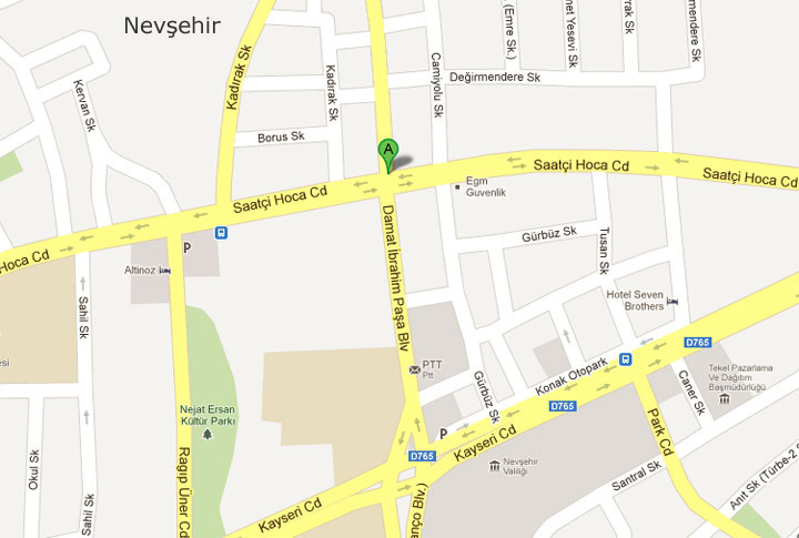 Nevşehir bus drop-off location