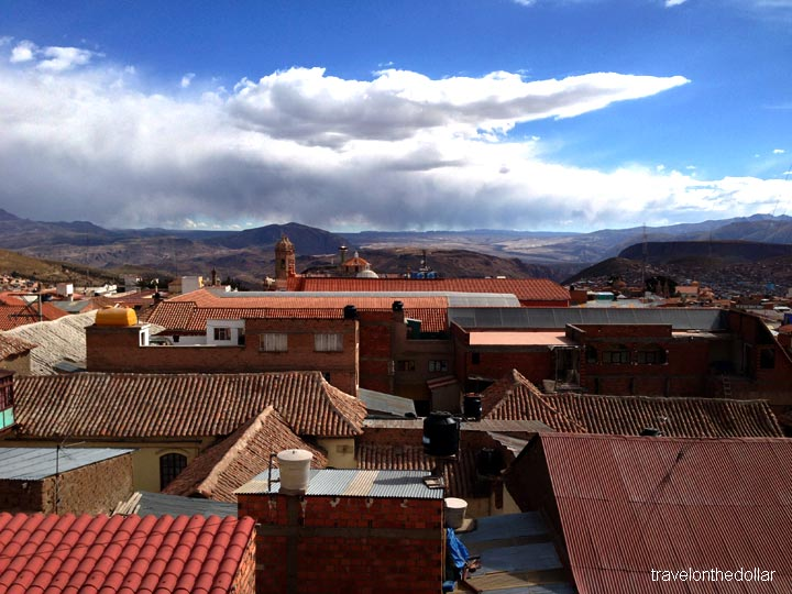 View from rooftop of Tuko's La Casa Real, Potosi, Bolivia