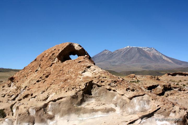 Rock formations near Ollague Volcano