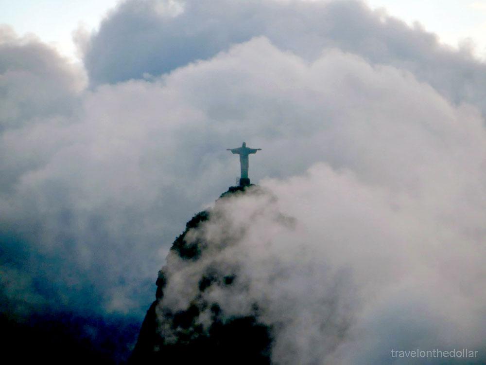 Cristo Redentor behind clouds, Rio de Janeiro, Brazil