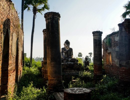 Yadana Sinme Pagoda in Inwa, Myanmar