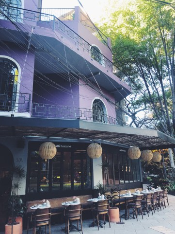 cafe toscano, airbnb upstairs