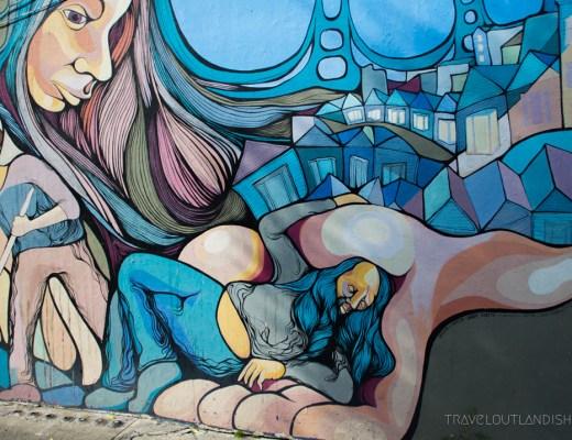 San Francisco Street Art- Blue Mural