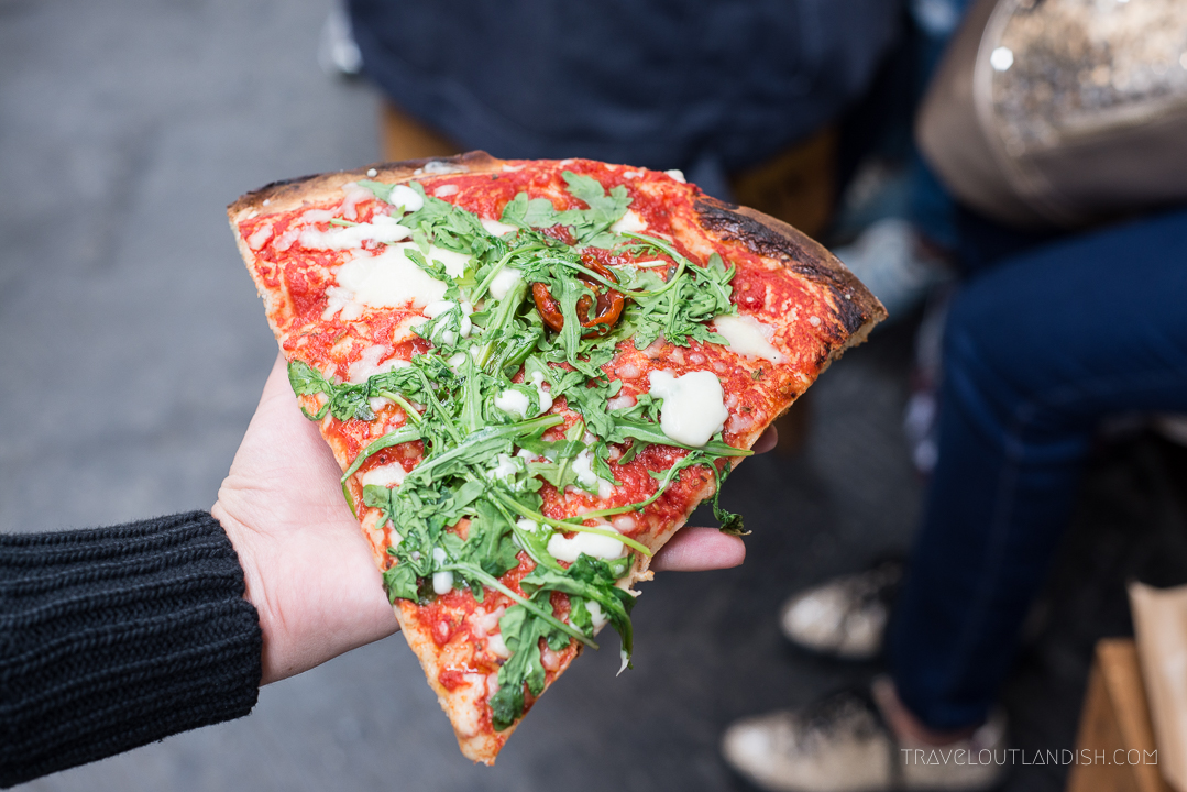 Best Street Food Cities - Eating Pizza in Rome