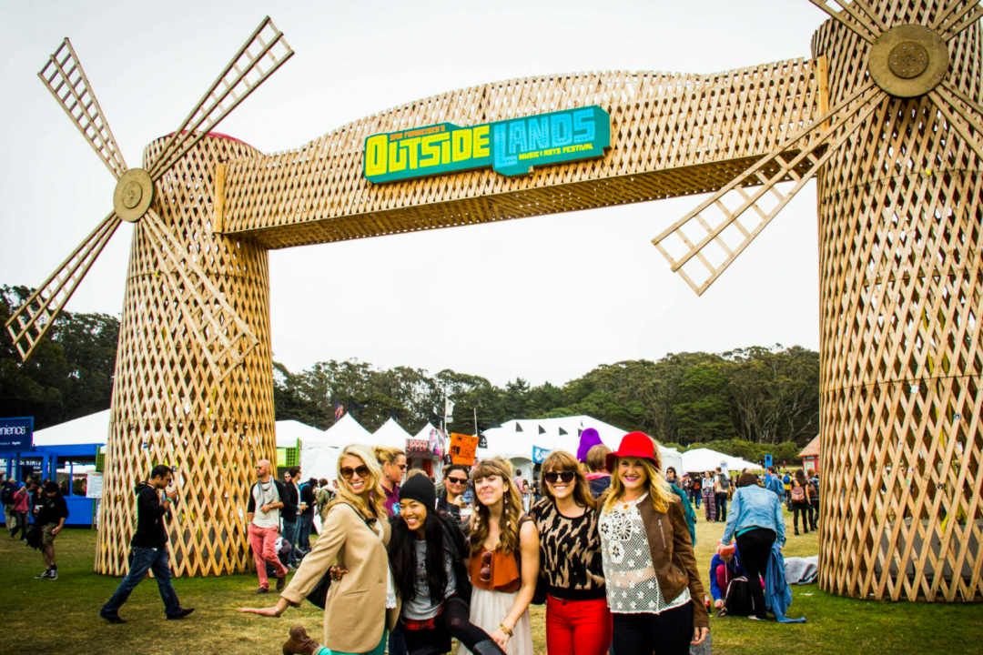 Under the windmills at OutsideLands