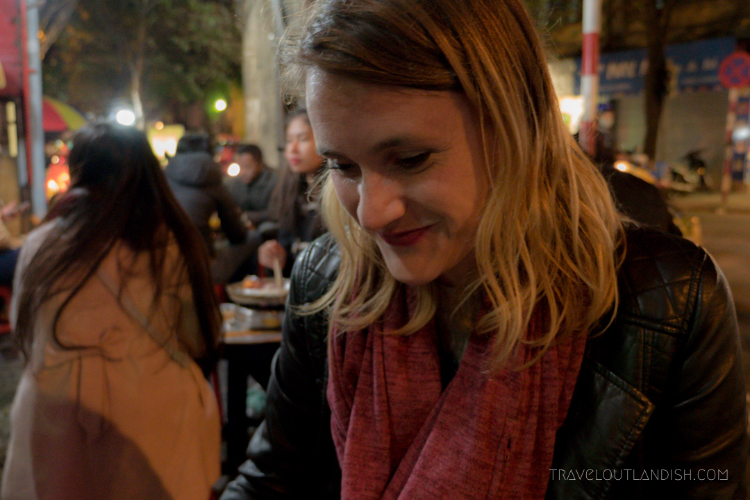 Taylor Ready to Eat Some Street Food