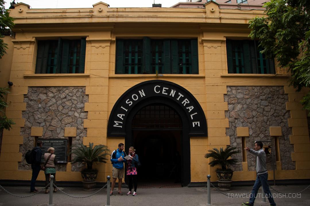 Outside a Vietnam War Museum