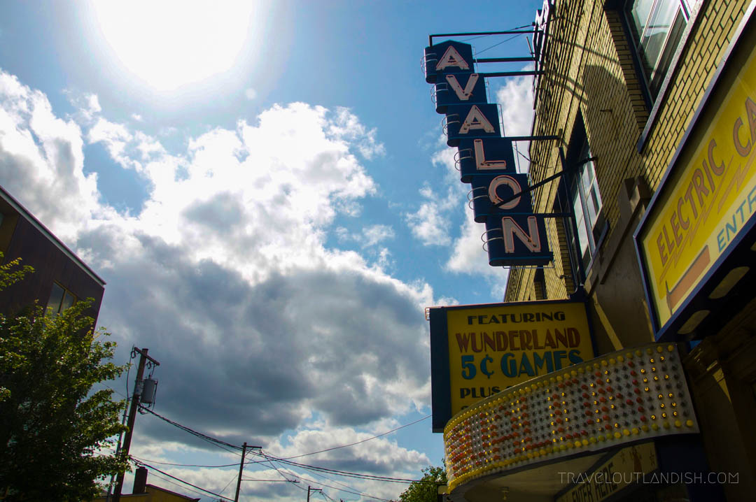 The Avalon Nickel Arcade in Portland