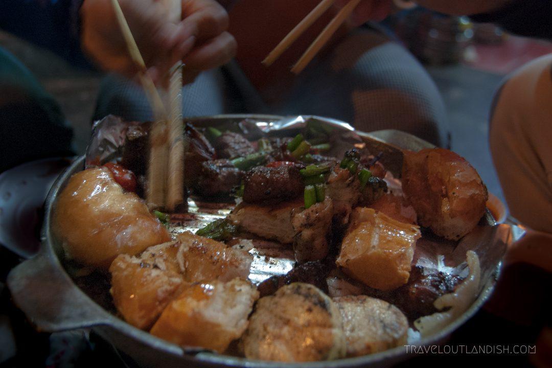 Northern Vietnamese Street Food - Street BBQ in Hanoi