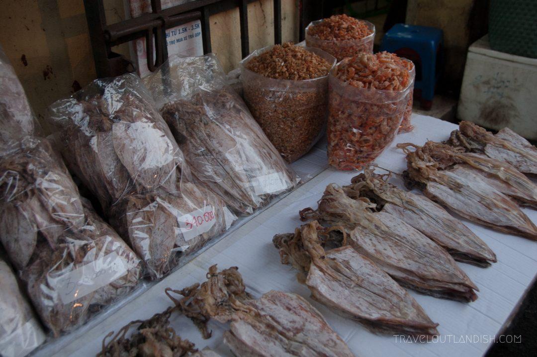 Northern Vietnamese Street Food - Dried fish in Hanoi