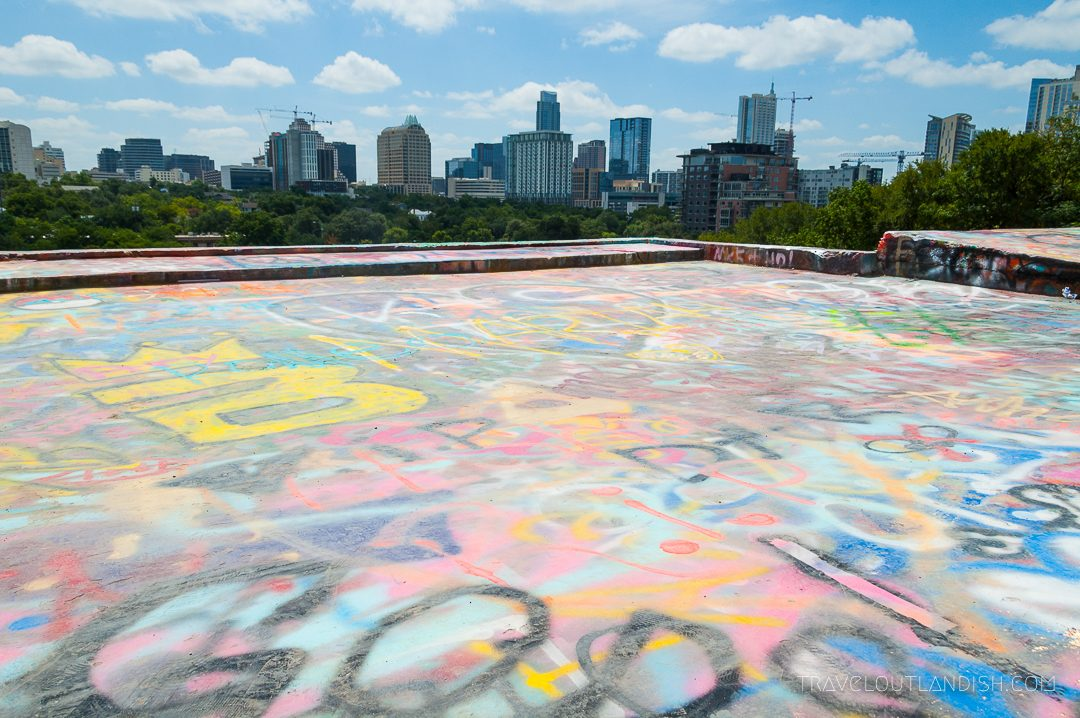 View of Austin from HOPE Outdoor Gallery