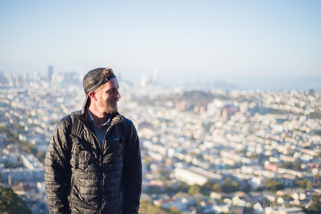 Daniel on top of Bernal Heights