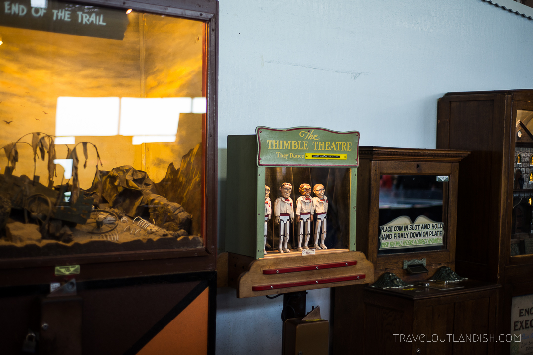 Thimble theater and other retro games at Musée Mecanique