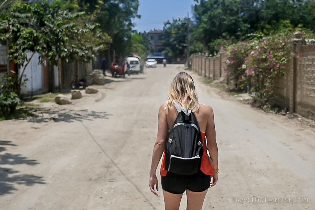 Things to do in Montanita - Taylor walking the Road