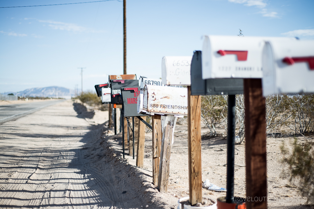 Things to do in Joshua Tree National Park - Mailboxes in Mojave Desert 1