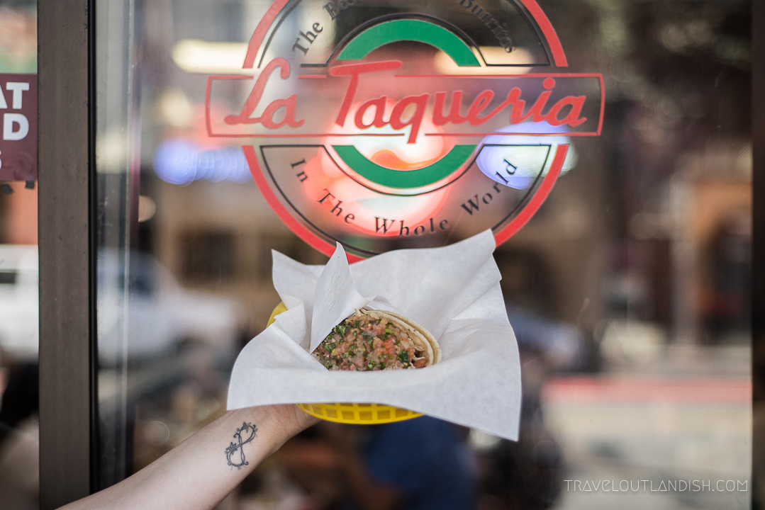 Best Tacos in San Francisco: La Taqueria Taco