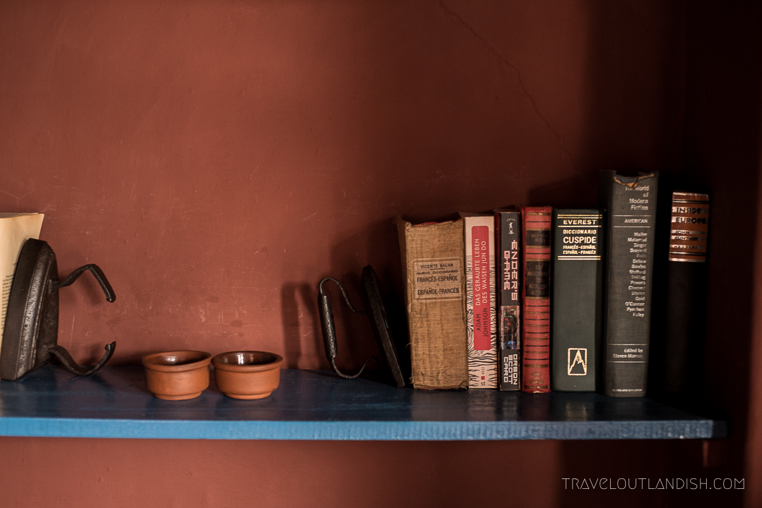 Bookshelf at Hacienda el Porvenir