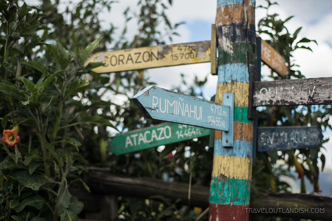 Sign at Hacienda el Porvenir