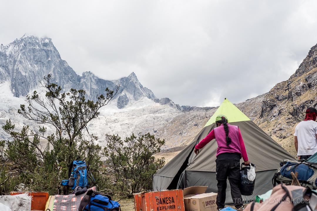 The Santa Cruz Trek - Campsite with Ganesa Explorer