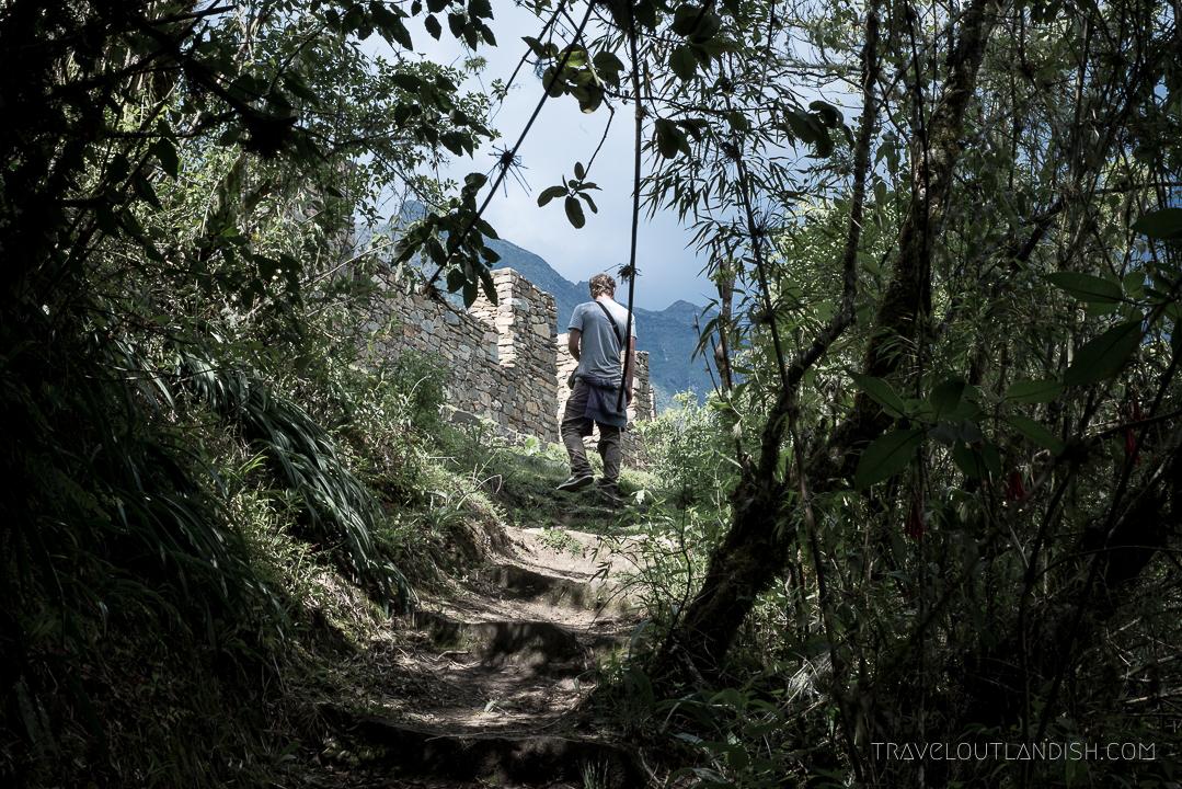 Choquequirao Ruins - Daniel exploring the ruins