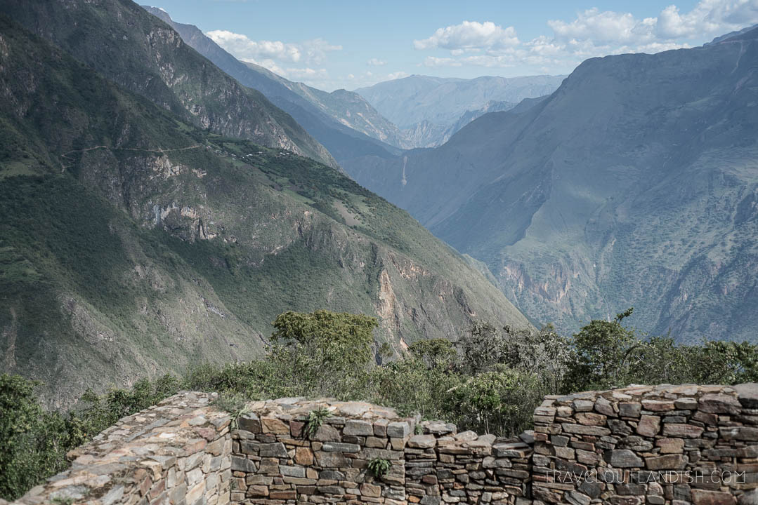Overlooking the Apurimac Canyon from Choquequirao