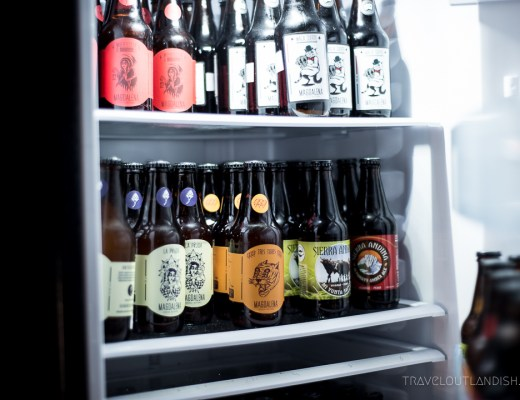 Peruvian Beers - Fridge of Beer at Faces of Cusco