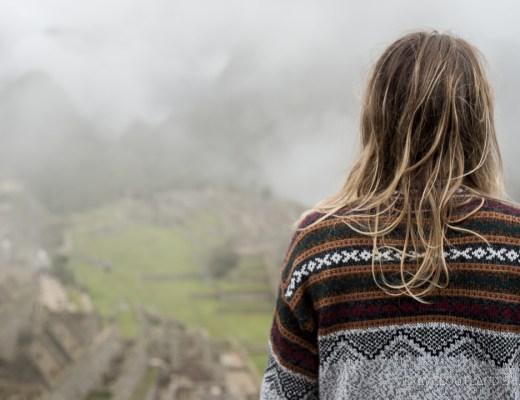 Taylor looking at Machu Picchu