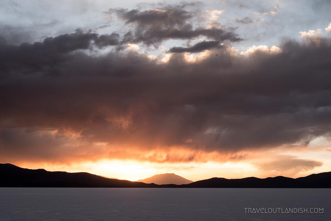Best time to visit Uyuni - Sunset on the Salar