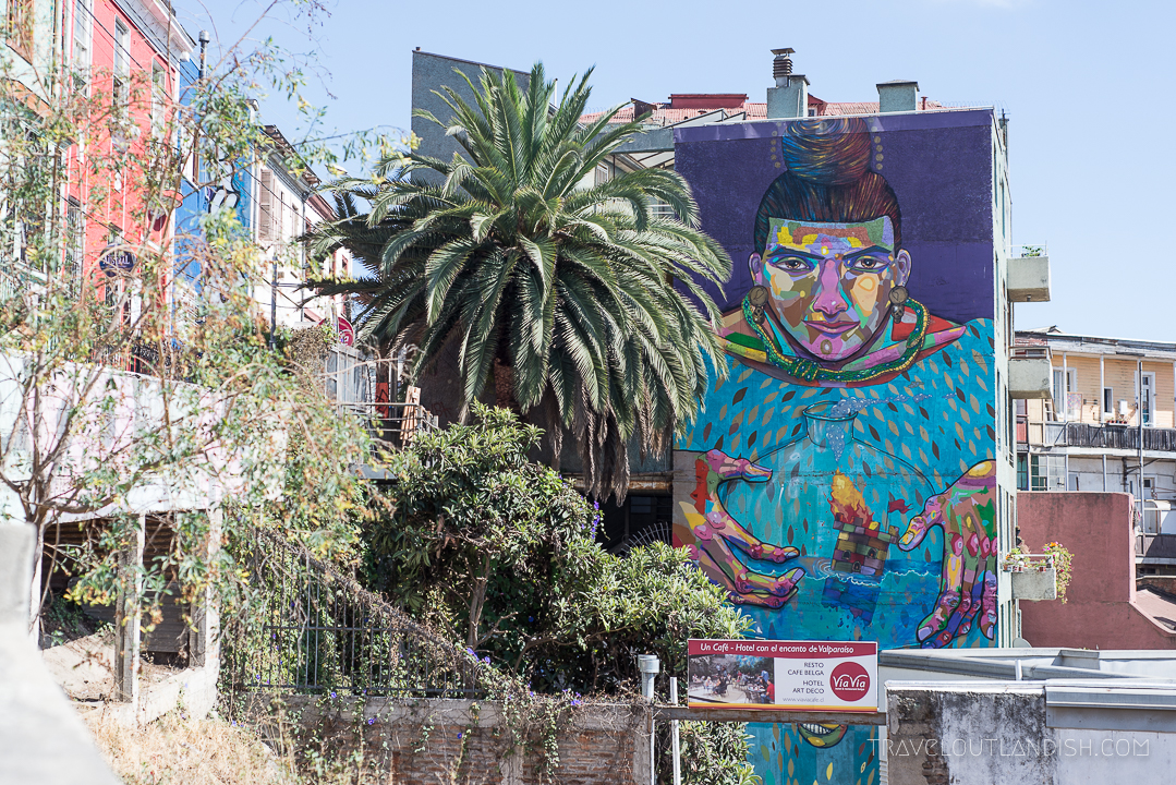 Vaparaiso Street Art - City View