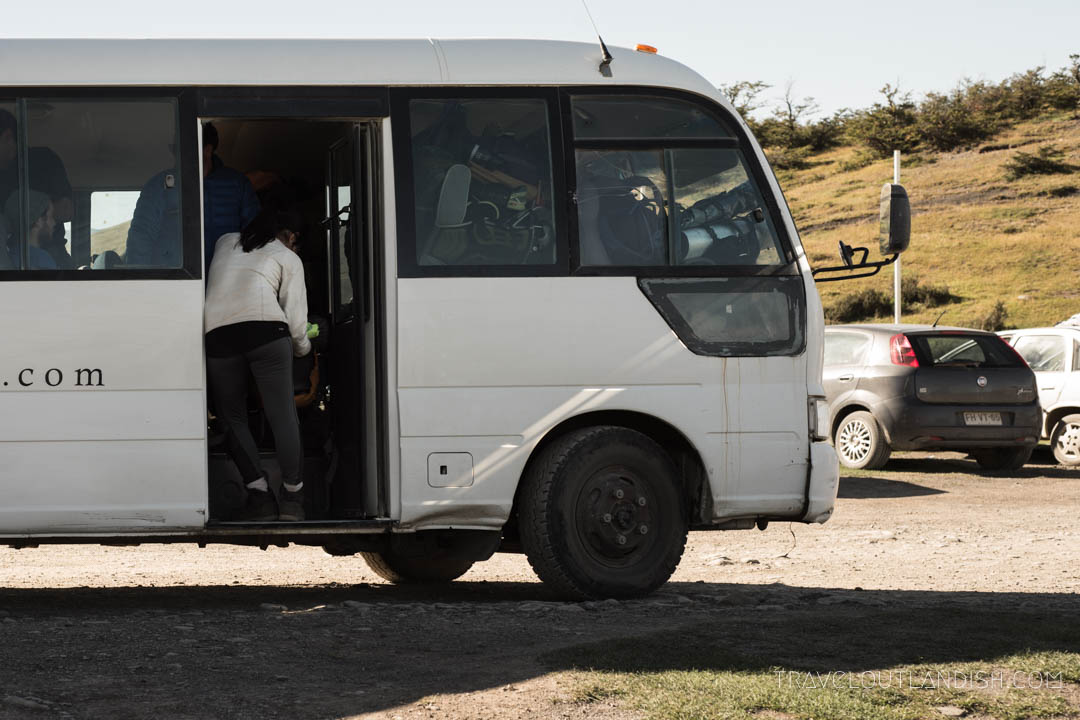 Bus from Hotel Las Torres to Laguna Amarga