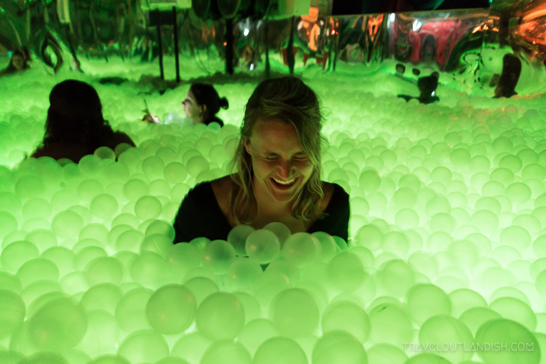 Ball Pit Bar - Taylor in the Ball Pit at Ballie Ballerson