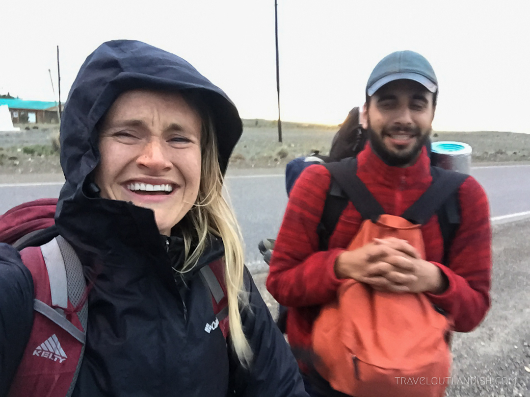Hitchhiking in Argentina - Waiting for a ride in Esperanza