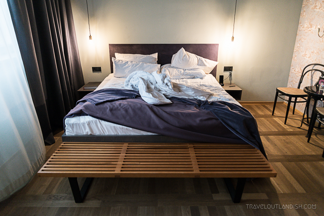 Bed at The Flushing Meadows Loft in Munich
