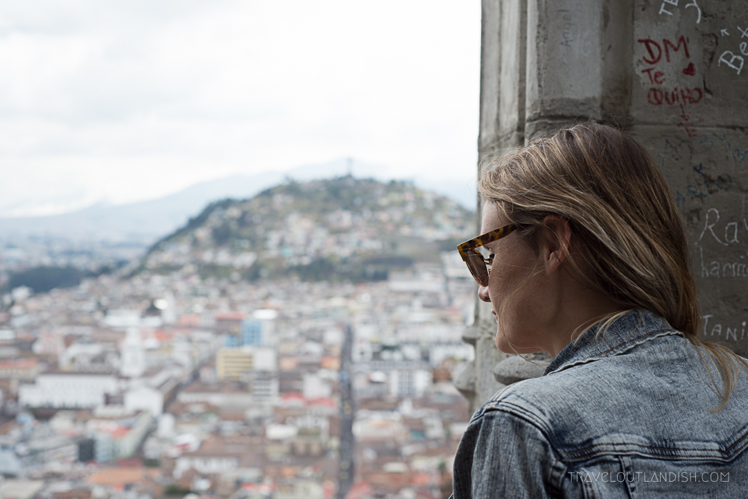 Taylor Looking Out over Quito