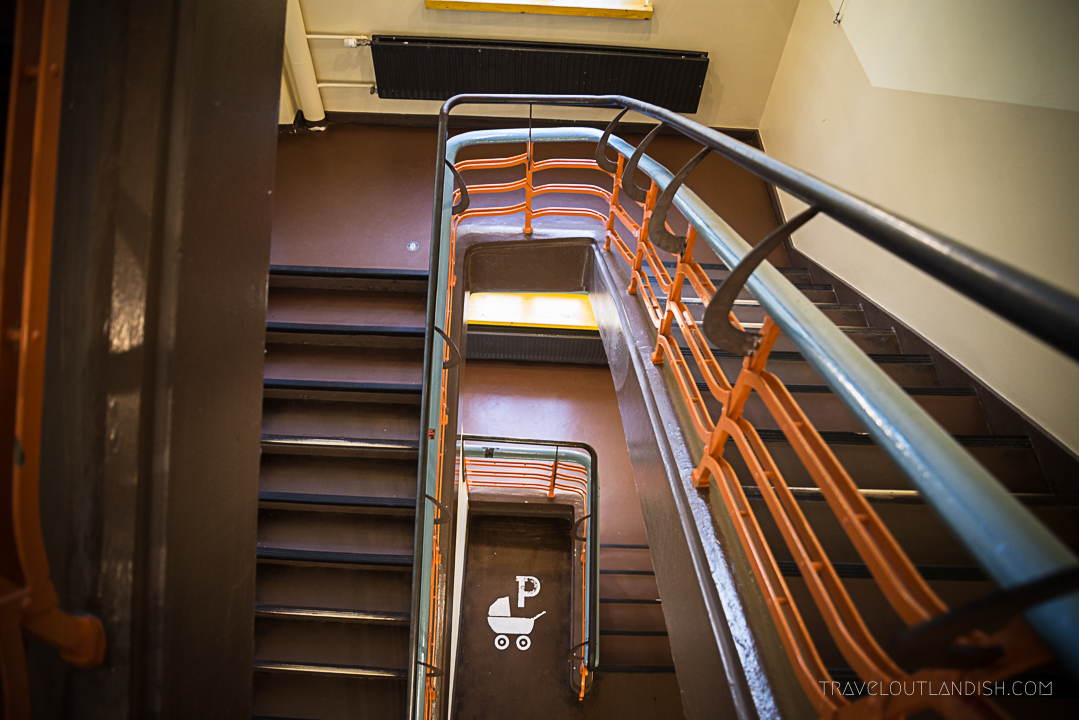 Hostels in Hamburg - Staircase at Superbude St. Pauli