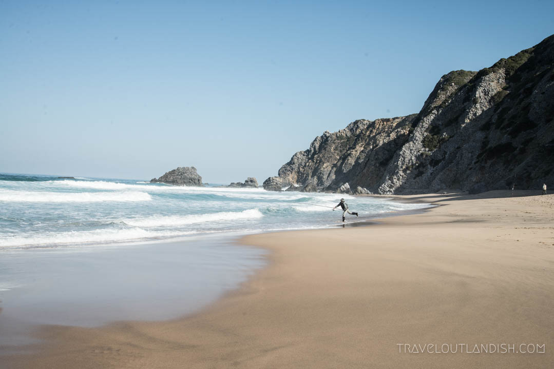 Photos of Portugal - Fisherman on a Beach in Cascais