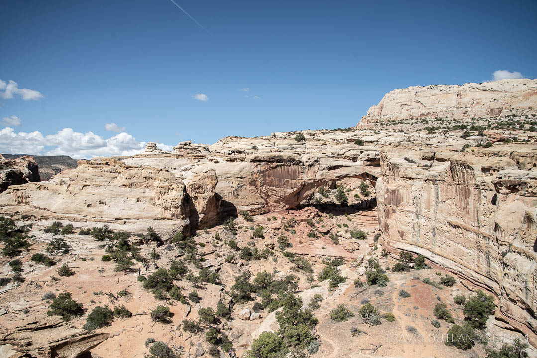 View of Hickman Bridge in Capitol Reef National Park