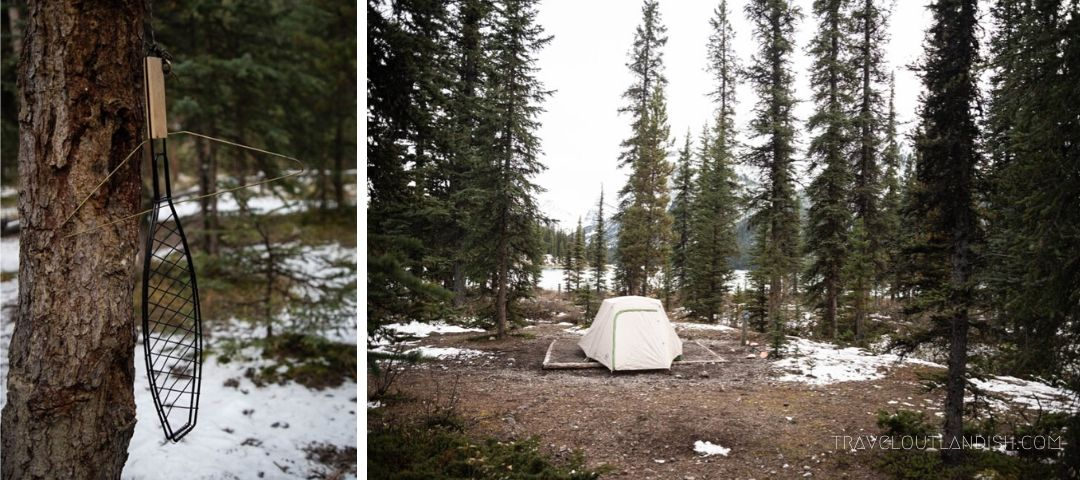 Scenes from Fisherman's Bay Campgrounds on Maligne Lake