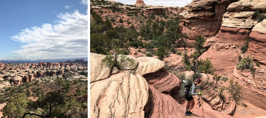 Backpacking in the Needles District in Canyonlands
