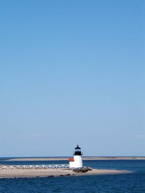 Brant Point lighthouse, Nantucket Harbor.