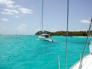 The point protecting Salt Whistle Bay, Mayreau