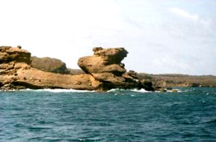 The Rock at the entrance to St. David's Bay looking east